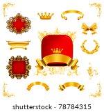 vintage design elements  bitmap ... | Shutterstock . vector #78784315