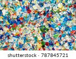 colorful of glass fragments... | Shutterstock . vector #787845721