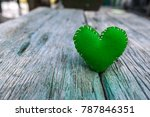 Green Valentine Hearts On...