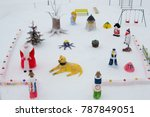 Christmas Snow Sculptures In...