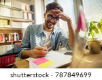 portrait close up view of happy ...   Shutterstock . vector #787849699