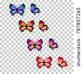 colorful butterfly silhouette... | Shutterstock .eps vector #787857265