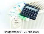 money and calculator on a... | Shutterstock . vector #787861021