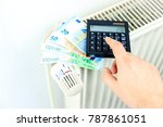 money and calculator on a... | Shutterstock . vector #787861051