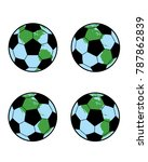 world soccer graphic | Shutterstock .eps vector #787862839