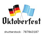 flags of bayern and germany | Shutterstock . vector #787863187