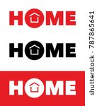 vector home logotype | Shutterstock .eps vector #787865641