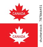 vector canadian maple leaf... | Shutterstock .eps vector #787866451