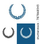 vector athletic wreath set | Shutterstock .eps vector #787868545