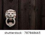 a dark black wooden background... | Shutterstock . vector #787868665