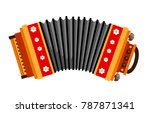 accordion. folk musical... | Shutterstock .eps vector #787871341