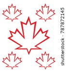 vector canadian maple leaf set | Shutterstock .eps vector #787872145