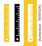 vector ruler set | Shutterstock .eps vector #787873291