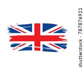 flag of the united kingdom ... | Shutterstock .eps vector #787876921