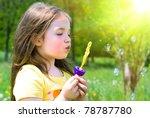 happy child in summer. ...   Shutterstock . vector #78787780