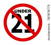 no 21 years icon illustration ... | Shutterstock .eps vector #787878775
