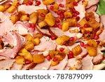 roast gammon pork or ham...   Shutterstock . vector #787879099