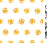 seamless pattern with suns on... | Shutterstock .eps vector #787884991