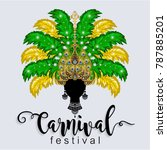 carnival dancing girl in... | Shutterstock .eps vector #787885201