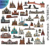 set of russian famous buildings ... | Shutterstock .eps vector #787888174
