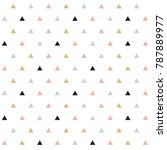 classic minimalistic triangle... | Shutterstock .eps vector #787889977