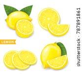 set of lemon vector illustration | Shutterstock .eps vector #787891861