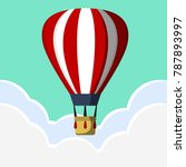 hot air ballon vector design | Shutterstock .eps vector #787893997