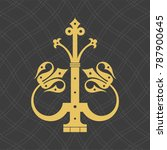 vintage baroque ornament. retro ... | Shutterstock .eps vector #787900645