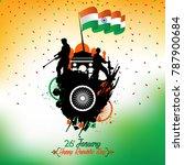 india republic day celebration... | Shutterstock .eps vector #787900684