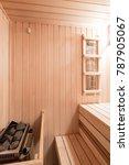 interior of new finnish sauna ... | Shutterstock . vector #787905067