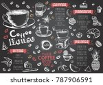 coffee house menu. restaurant... | Shutterstock .eps vector #787906591