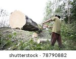 man working to cut and move... | Shutterstock . vector #78790882