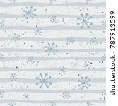 cute seamless pattern with... | Shutterstock .eps vector #787913599