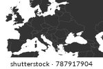 blank gray political map of... | Shutterstock .eps vector #787917904