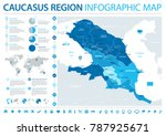 caucasus region map   detailed... | Shutterstock .eps vector #787925671