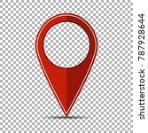 pin red icon. flat design. pin... | Shutterstock .eps vector #787928644