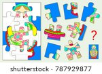 logic puzzle for children and... | Shutterstock .eps vector #787929877