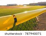 Baseball Field Fence Yellow...