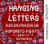 vector set of handwritten abc... | Shutterstock .eps vector #787942279