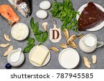 food is source of vitamin d.... | Shutterstock . vector #787945585