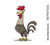 proud cocky rooster | Shutterstock .eps vector #787947031