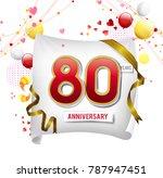 80 years anniversary vector...   Shutterstock .eps vector #787947451