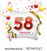 58 years anniversary vector... | Shutterstock .eps vector #787947517
