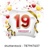 19 years anniversary vector... | Shutterstock .eps vector #787947637