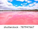 Small photo of Pink Lake is located near Dimboola in the Wimmera region of Victoria, Australia. The pink colour comes from a pigment secreted by microscopic algae.