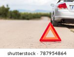 the car broke down on the road. ... | Shutterstock . vector #787954864