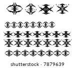black vector abstract symbols... | Shutterstock .eps vector #7879639