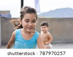 little poor latin siblings. | Shutterstock . vector #787970257