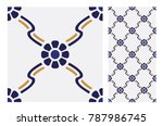 vintage patterns antique... | Shutterstock .eps vector #787986745