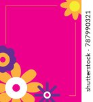 cute vector flower frame | Shutterstock .eps vector #787990321